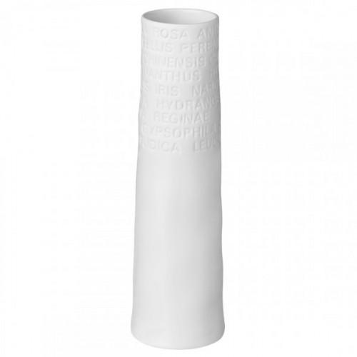 White vase faceted in resin (Madam Stoltz)