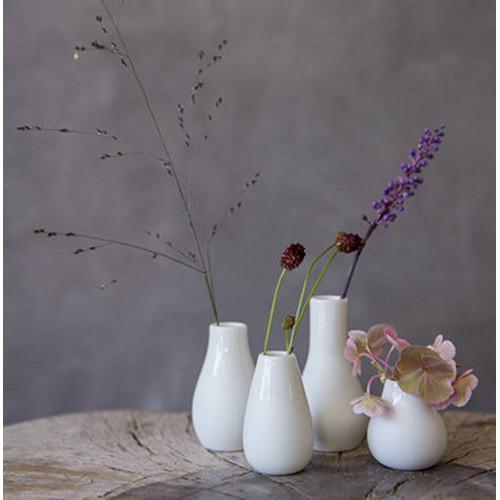 Set 4 mini vases soliflores blancs (Räder)