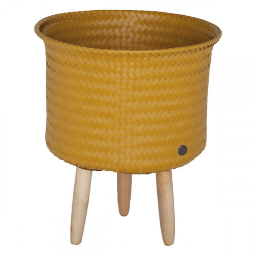 cache pot sur pieds moyens moutarde handed by pomme. Black Bedroom Furniture Sets. Home Design Ideas