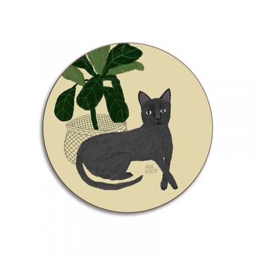 Glass coaster, cat Persian (Lalie Design)