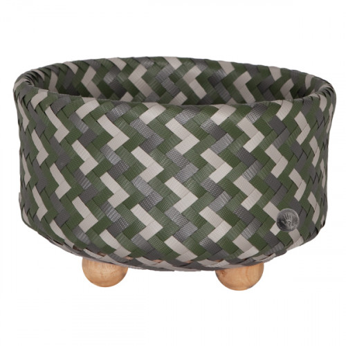 Basket with round base, Green (Handed By)