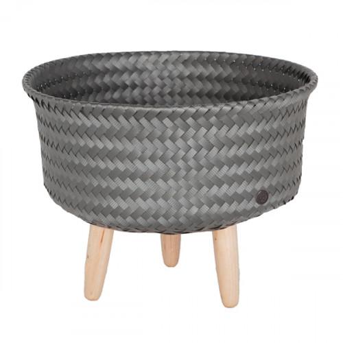 Cache-pot sur pieds bas, Gris foncé (Handed By)