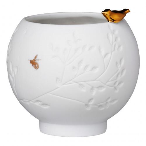 Photophore porcelaine, Oiseau doré (Räder)