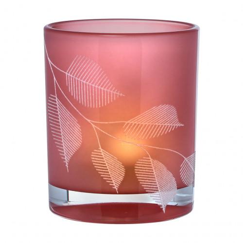 Photophore verre opaque, Feuilles (Räder)