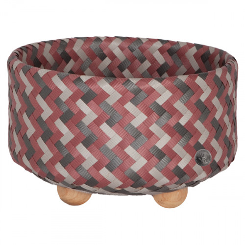 Basket with round base, Pink (Handed By)