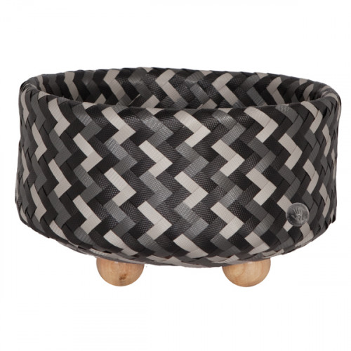 Basket with round base, Dark grey (Handed By)