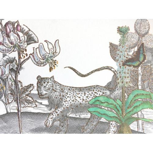 Carte paillettes, Le Tigre des fleurs (Vanilla Fly)