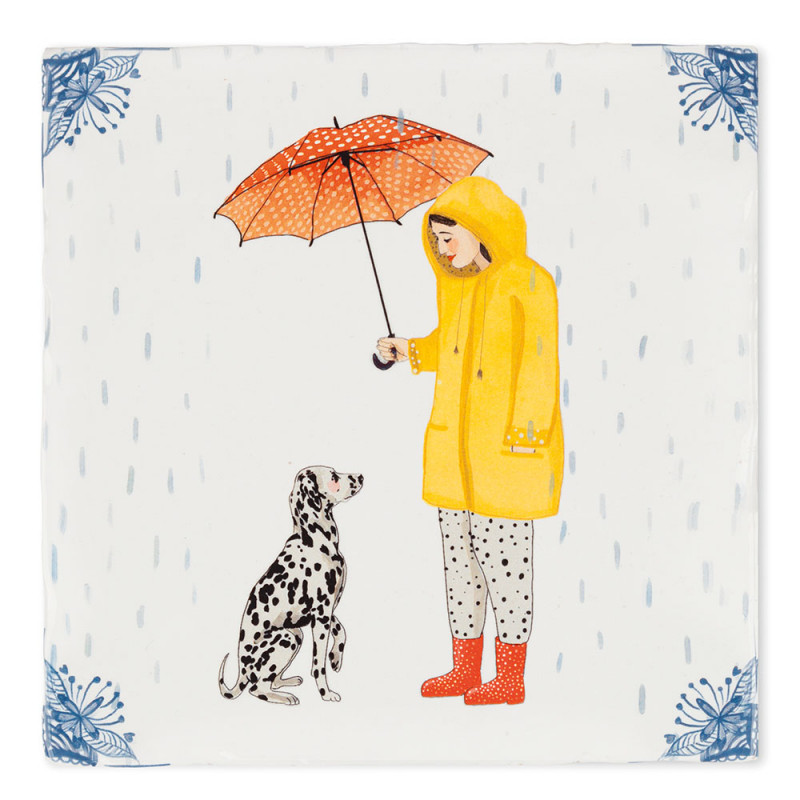 Carreau céramique, It's raining dogs (StoryTiles)