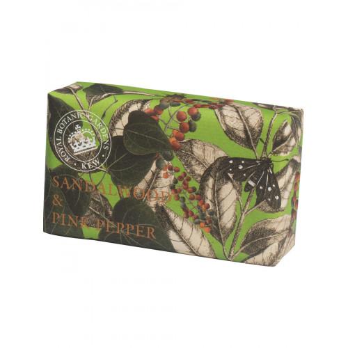 Savon raffiné Bois de santal & poivre rose (The English soap Company)