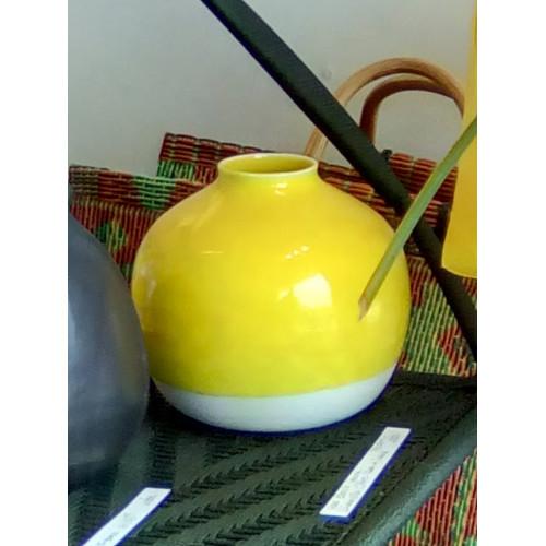 Vase ceramik Nèfle citrus yellow (Jars Céramistes)