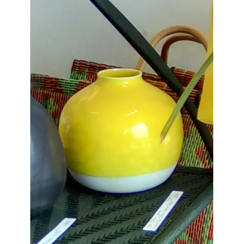 Vase Nèfle jaune citron (Jars Céramistes)