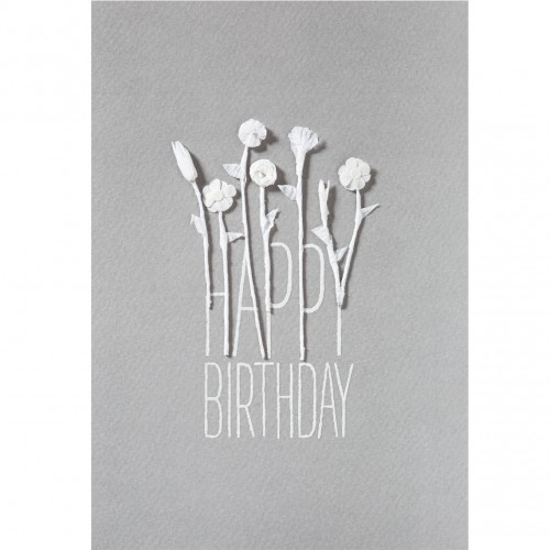 Carte fantaisie, fleurs soie Happy Birthday (Räder)