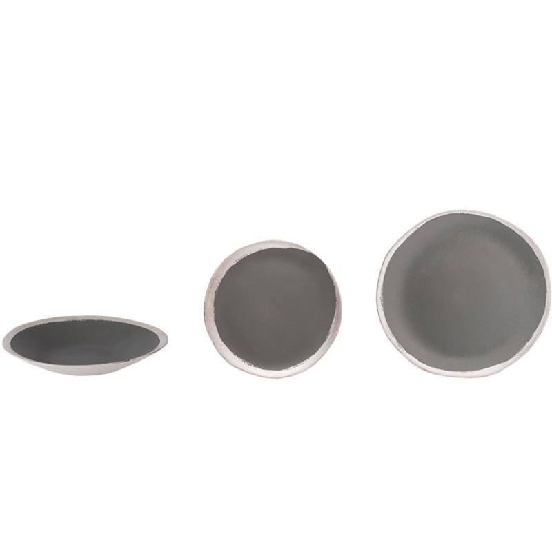 Assiette Reflet d'argent anthracite (Jars)