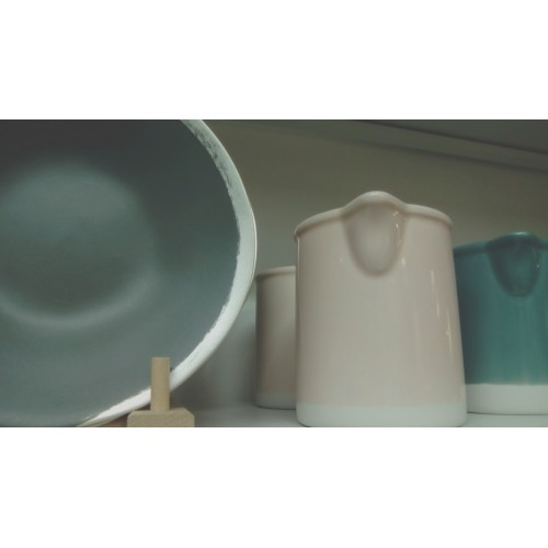 Assiette, Reflet d'argent anthracite (Jars Céramiques)