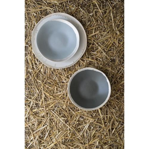Assiette, Reflet d'argent gris clair (Jars Céramiques)