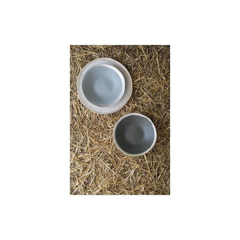 Assiette plate, Reflet d'argent anthracite (Jars)