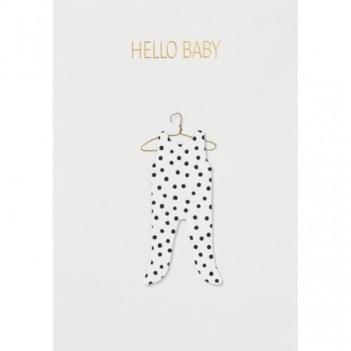 Carte fantaisie, Hello Baby en pyjama (Räder)