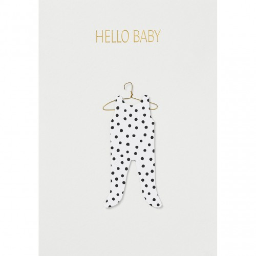 Carte fantaisie, Hello baby in clothe (Räder)