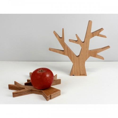 Dessous de plat en bois, Cannelle (Reine Mère)