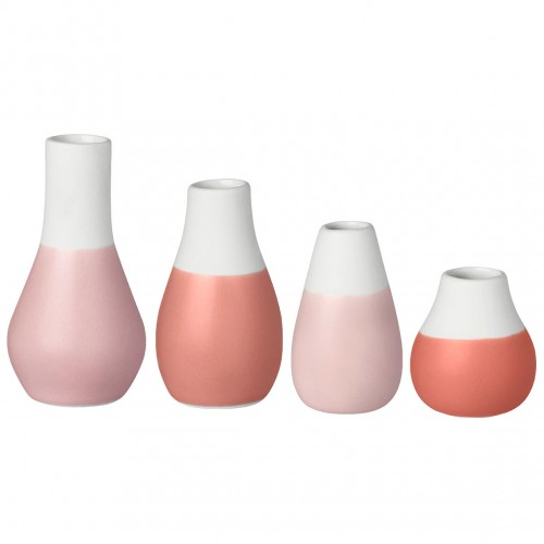 Set 4 mini vases soliflores orangés (Räder)