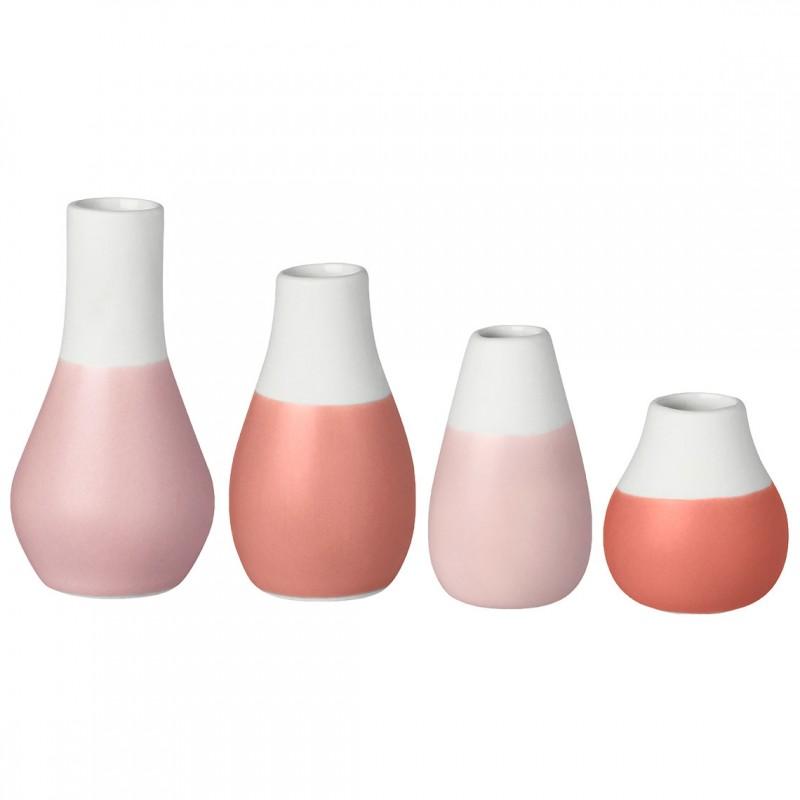 Set de 4 mini vases soliflores orangés (Räder)