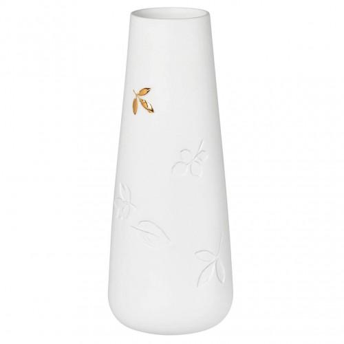 Vase décor feuille dorée (Räder)