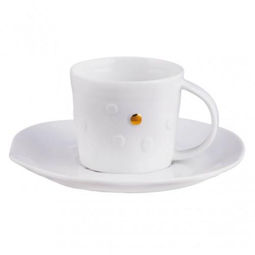 Tasse à café et sous-tasse, Pois mix & match (Räder)