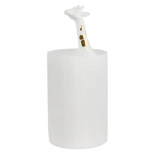 Vase décor girafe dorée (Räder)