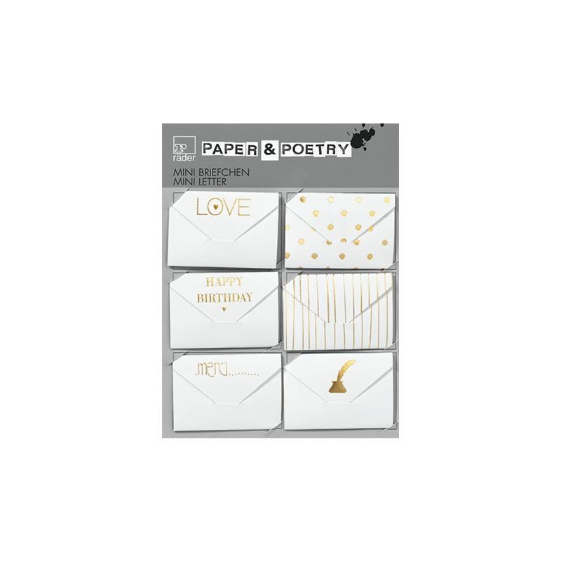 Mini enveloppes étiquettes dorées (Räder)