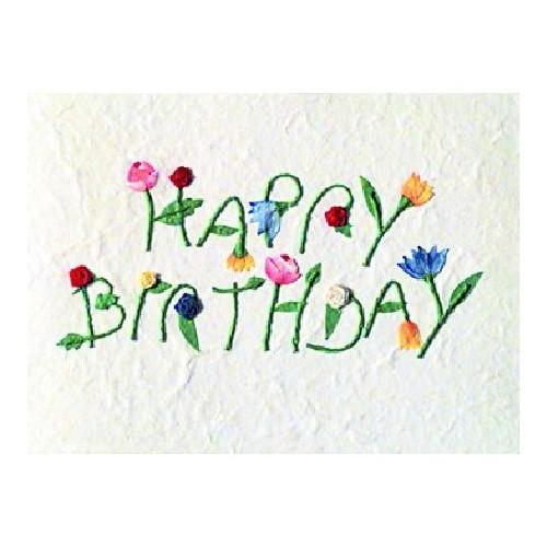 Carte fantaisie Fleurs , Happy Birthday (Räder)