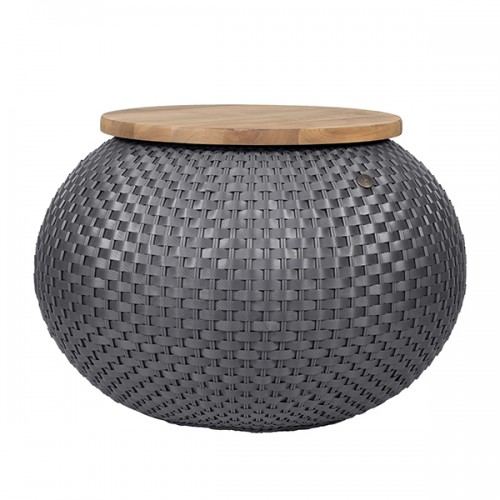 Side table, grey (Handed By)