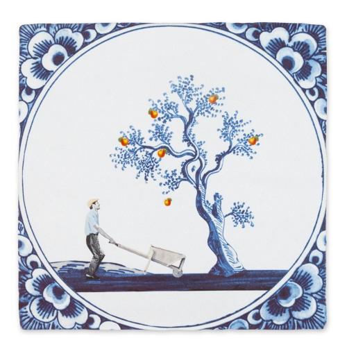 Carreau céramique, La pomme ne tombe jamais loin de l'arbre (Storytiles) (StoryTiles)