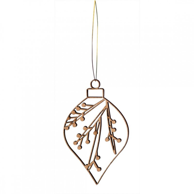 Winter wooden ornament, Winterberry (Räder)