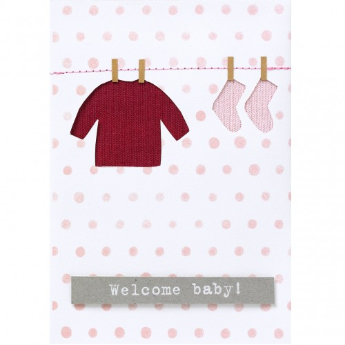 Carte fantaisie, Welcome baby (Räder)
