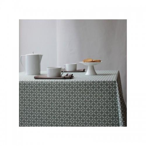 Tissu coton enduit, Mosaïque vert (Fleur de Soleil)