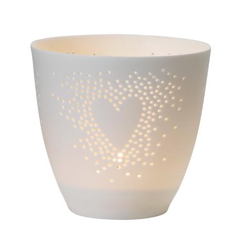 Fine bone tealight, Heart (Räder)