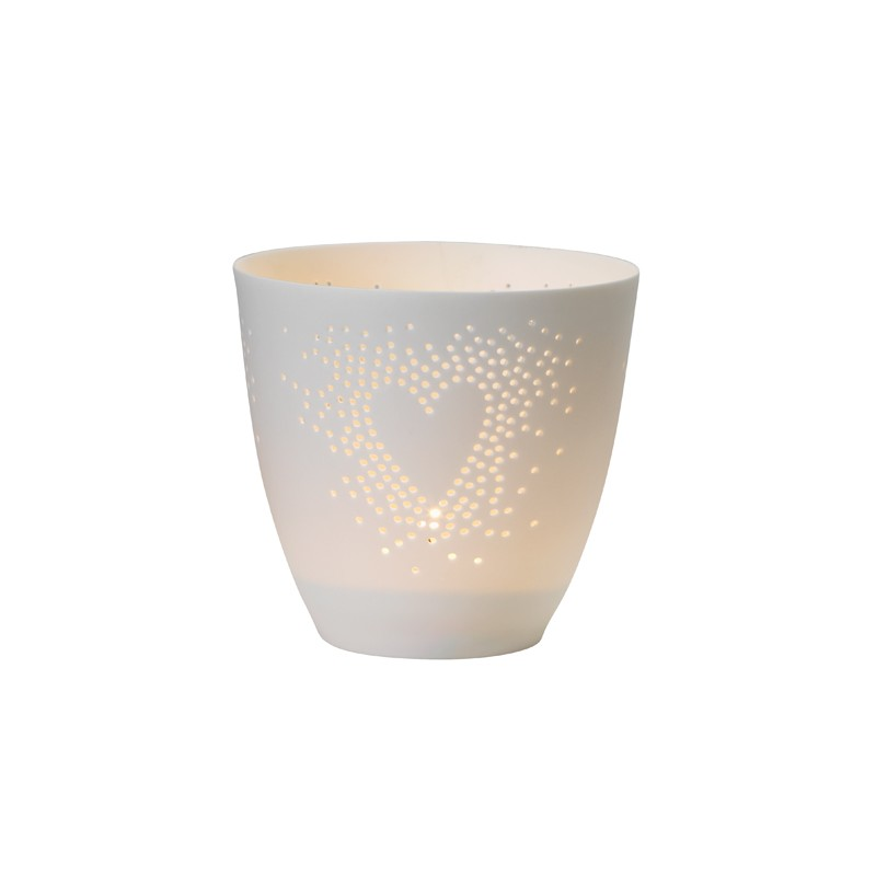Fine bone tealight, Heart (Räder)