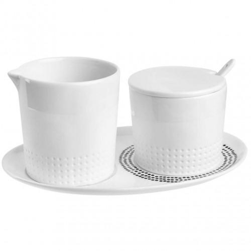 Set of 4 mini vases soliflore white (Räder)