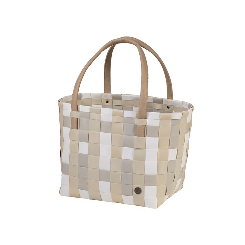 Panier shopper Color block Mix écru (Handed By)