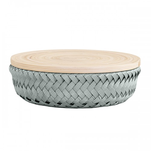 Bamboolastic basket, Stone green (Handed By)