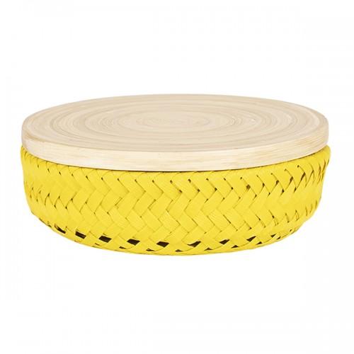 Boîte Wonder round, jaune (Handed By)