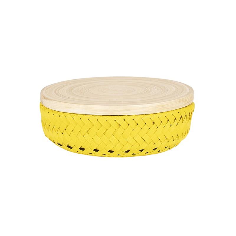 Boîte Wonder round jaune PM (Handed By)