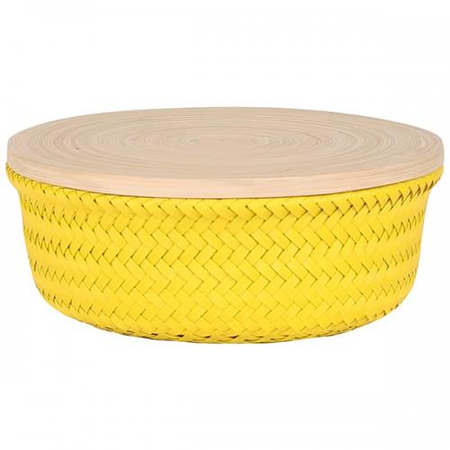Boîte Wonder round jaune GM (Handed By)