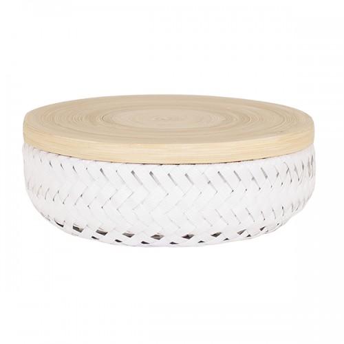 Boîte Wonder round, blanc PM (Handed By)