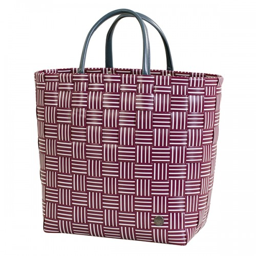 Panier shopper Joy, burgundy (Handed By)