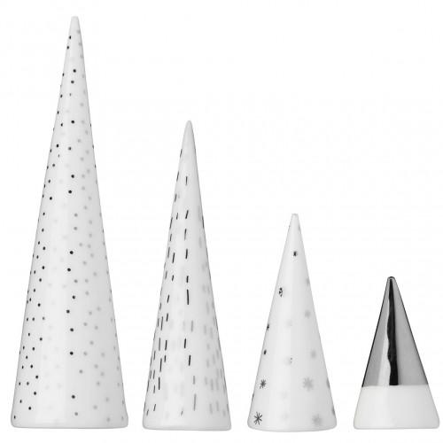 Forêt en porcelaine argentée de Noël (Räder)
