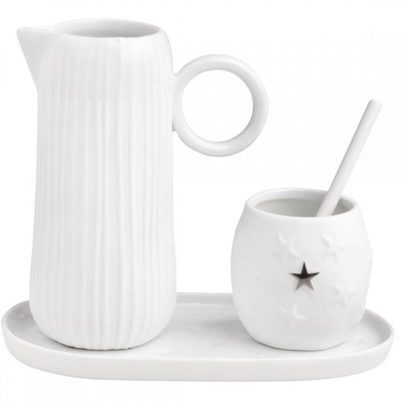 Set sucrier et pot à lait en porcelaine (Räder)
