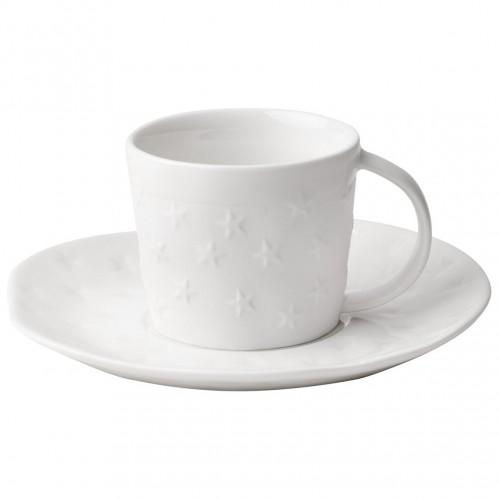 Tasse à café et sous-tasse étoiles (Räder)
