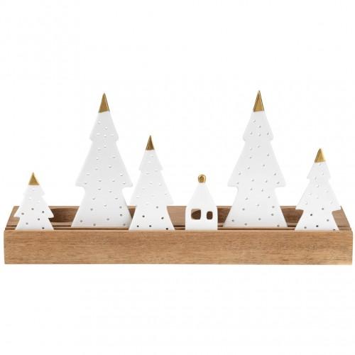 Bougeoir de Noël, les sapins (Räder)