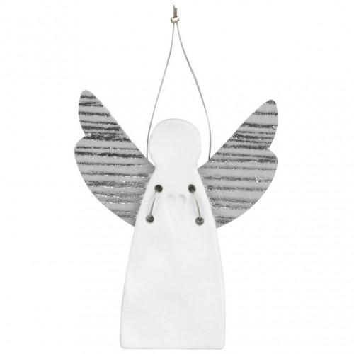 Ange en porcelaine à suspendre, Coeur (Räder)